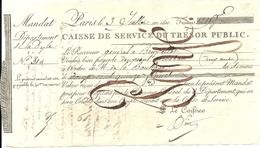 PERIODE NAPOLEON 1ER .DEPARTEMENT CONQUIS DE LA DYLE . MANDAT TRESOR PUBLIQUE - Documenti Storici