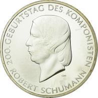 République Fédérale Allemande, 10 Euro, Robert Schumann, 2008, Proof, FDC - Allemagne