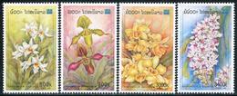 228 - Laos 2000  YT 1371-74 ; Mi# 1694-97 **  MNH  Fleurs, Orchidées - Laos