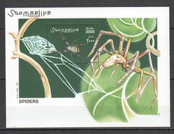 N1001 2002 SOOMAALIYA ANIMALS SPIDERS 1BL MNH - Araignées