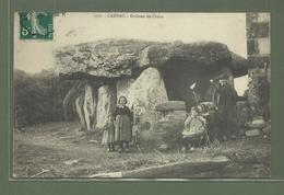 CARTE POSTALE 56 MORBIHAN CARNAC DOLMEN DE CRUCU AVEC ENFANTS - Carnac