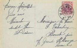 Germania 1 1/4 Mark Sur Carte Postale Passionspiele 1922 - Briefe U. Dokumente