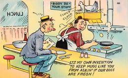 Comics Humor Comic Comique Humour - Restaurant Hen Egg Lunch Lady Man - No. 560 - 75800 - 2 Scans - Humour