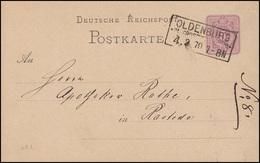 Postkarte P 5 Ziffer 5 Pfennige Rahmenstempel OLDENBURG 4.2.79 Nach Rastede - Ganzsachen