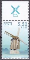 EESTI, 2009, 647, Windmühle In Angla.  MNH ** - Estland