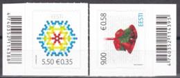 EESTI, 2009, 649/50,  Weihnachten. MNH ** - Estland
