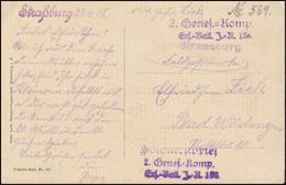 Feldpost 2. Genes.-Komp. Ers.-Bat. J-R. 136 AK Fleckenstein, Strasßburg 23.4.18  - Besetzungen 1914-18