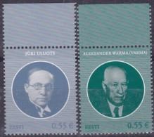 EESTI, 2015, 814+830, Staatsoberhäupter. MNH ** - Estland