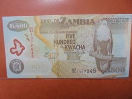 ZAMBIE 500 KWACHA 2011 PEU CIRCULER/NEUF - Zambia