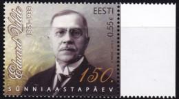 EESTI, 2015, 817,  150. Geburtstag Von Eduard Vilde. MNH ** - Estland