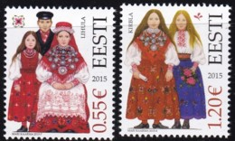 EESTI, 2015, 820/21, Trachten Der Regionen.  MNH ** - Estland