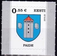 EESTI, 2015, 838,  Stadtwappen : Paide (Weißenstein).  MNH ** - Estland