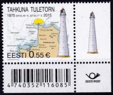 EESTI, 2015, 839,  Leuchtturm Tahkuna, MNH ** - Estland