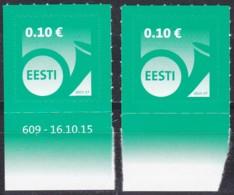 EESTI, 2015, 840,  Posthorn; Jahreszahl 2015. MNH ** - Estland