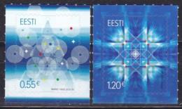 EESTI, 2015, 843/44,  Weihnachten.  MNH ** - Estland