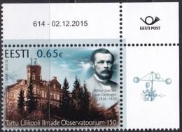 EESTI, 2015, 845,  Observatorium Der Universität Dorpat.  MNH ** - Estland