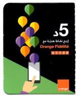Phonecard Télécarte Tunisia Tunisie Orange Telefonkarte Telefonica Phonecards Télécartes Recharge Téléphone - Tunisia