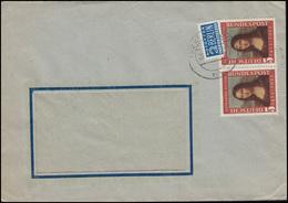 148 Mona Lisa 1952 Paar Mit Notopfer MeF Fensterbrief GRUNDIG / KÖLN 28.11.52 - [7] République Fédérale