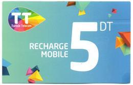 Phonecard Télécarte Tunisia Tunisie Telecom Telefonkarte Telefonica Phonecards Télécartes Recharge Téléphone - Tunisia