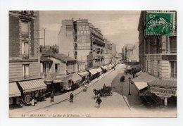 - CPA ASNIERES (92) - La Rue De La Station 1910 (CAFE DU CERCLE) - Editions Lévy N° 23 - - Asnieres Sur Seine