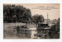 - CPA PUTEAUX (92) - Bords De Seine - Le Transbordeur Du Cercle De La Société Sportive De L'Ile-de-Puteaux 1924 - - Puteaux
