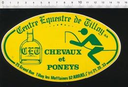 Autocollant Sticker Publicité CET Centre Equestre De Tilloy Les Mofflaines Arras (Etrier Cheval) 21ADH18 St - Autocollants