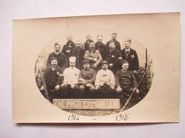 C.V.C.  POSTE N° 18  LA CIBILLIERE       -  CARTE PHOTO        TRES  ANIME         TTB - Guerre 1914-18