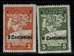 Italia 1918 Occ. Austria   Yv 21/22*, MH (2 Scans) - 8. Besetzung 1. WK