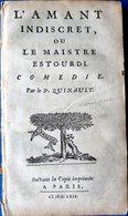 LIVRE 17° QUINAULT L'AMANT INDISCRET COMEDIE PARIS 1662 COMPLET SANS RELIURE 13 X 8 CM - Before 18th Century