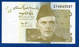Pakistan  - 5 Rupees 2009  - Pick # 53  -  état  UNC - Pakistan