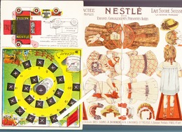 Lait & Farine Nestlé / Jeu Découpages Poupées  / Lot De 4 / - Publicités
