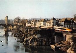 ¤¤  -  ORTHEZ   -  Les Deux Rames TGV De Présérie En Unité Multiple  - Chemin De Fer   -  ¤¤ - Orthez