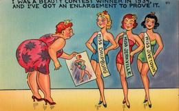 Comics Humor Comic Comique Humour - Beauty Contest - Fat - Sexy Ladies Lady - No. 671 - 75866 - 2 Scans - Humour