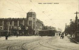 China, DAIREN DALIAN DALNY, Nishi Dori Street, Tram Street Car (1910s) Postcard - China