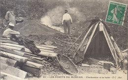 58 / FORET DU MORVAN / LE CHARBONNIER ET SA HUTTE    /// REF  JUIN .19  / N° 8855 - France