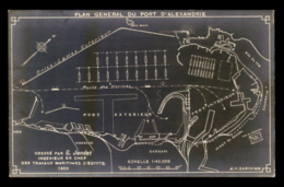 EGYPTE - ALEXANDRIE - PLAN GENERAL DU PORT - Alexandrie