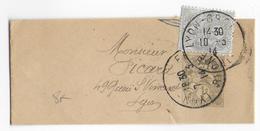 1914 - BLANC - BANDE JOURNAL ENTIER De LYON Avec COMPLEMENT - 1900-29 Blanc