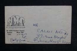 IRAQ - Affranchissement Plaisant Au Verso D'une Enveloppe Pour La Belgique En 1968 - L 32343 - Iraq