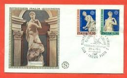 EUROPA - EUROPE- ITALIA EUROPA CEPT -1974 -FILAGRANO SETA - MARCOFILIA - F.D.C.