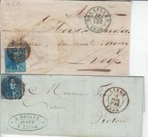 Ensemble De 27 Lettres Des N° 2 ( Voir Nuances Extremes -> N° 12 Joint Qques Emission 1865. Beau Lot Dont 3 Btes Rurales - Other