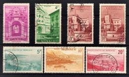 MONACO 1948 -  Y.T.  N° 309 / 310 / 310A / 310B / 311 / 311A / 312 - OBLITERES - Monaco