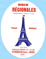 Carton 20 X 25 Publicité Noix Régionales Etablissements Charvin & Cie, Saint Marcellin (Isère) Tel. 2.88* - Publicidad