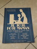 Je Joue Pour Maman -(Musique Alexandre Tansman)- Partition (Piano) 1937 - Instruments à Clavier