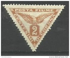 Fiume - 1919 Newspaper Stamp 2c MH *    Mi 49  Sc P2 - Fiume