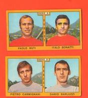 PANINI 2 Figurine VARESE Campionati 1969 - 70 Calciatori NUTI BONATTI CARMIGNANI BARLUZZI - Edizione Italiana