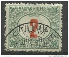 Fiume - 1918 Postage Due 2f Used    Mi P5  Sc J5 - 8. WW I Occupation