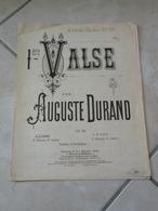 1er Valse, à Son Ami Théodore Ritter -(Musique Auguste Durand)- Partition (Piano) - Instruments à Clavier