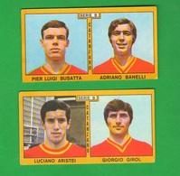 Calcio PANINI Figurine CATANZARO Campionati 1969 - 70 Calciatori BUSATTA BANELLI ARTISEI GIROL - Edizione Italiana