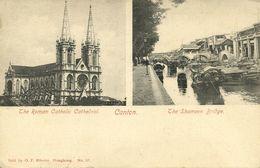 China, CANTON GUANGZHOU 廣州, Shameen Bridge, Roman Catholic Cathedral (1899) - China