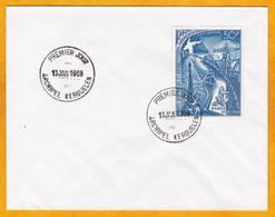 13 Janvier 1969  - Oblitération Du 1er Jour Archipel Kerguelen Sur Enveloppe Avec Timbre PA 18 - Traité Antarctique - FDC